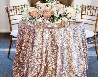 Blush Rose Sequin Tablecloths U0026 Runners