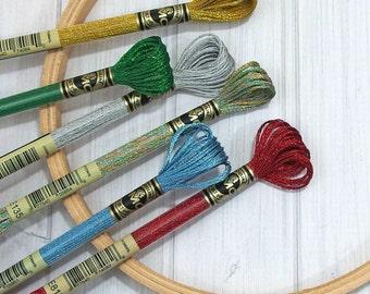 DMC Light Effects - Metallic Embroidery Floss - 6-strand Thread - Embroidery - Cross Stitch - Needle Arts