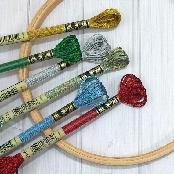 DMC Light Effects - Metallic Embroidery Floss - 6-strand Thread - Embroidery - Cross Stitch ...