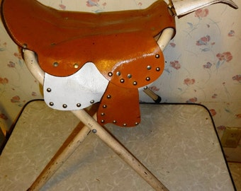1959 Childs Cowboy Saddle Chair by Haskell-Benson Co