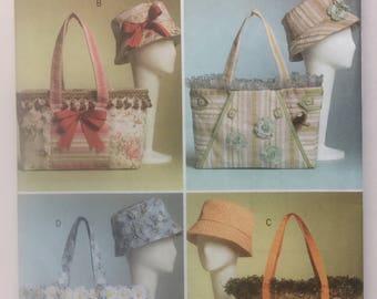 Butterick 4823,Handbags and Hats Sewing Pattern Bucket Hat, Summer Hat, Matching Handbags, Pocket Purse, Beach Hat, Beach Bag, Fabric Hat