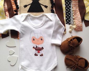 Baby Assassin Tops Humorous Geek Nerd Geeky New Baby Shower Gift Nursery Custom Clothing Toddler T-Shirt Infant