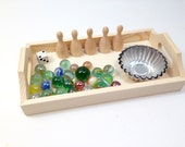 Montessori Math~Loose Parts~Manipulatives~Reggio Emilia~Waldorf~Game~Bowling Busy Bag