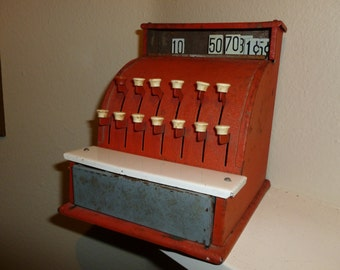 Vintage Tom Thumb Toy Cash Register From The 1950's