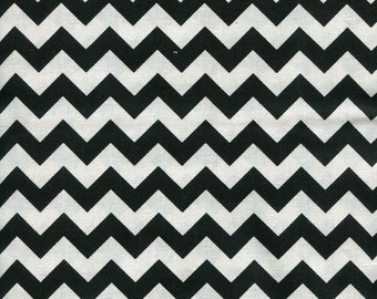 Chevron Zig Zag Midnight Black Fabric