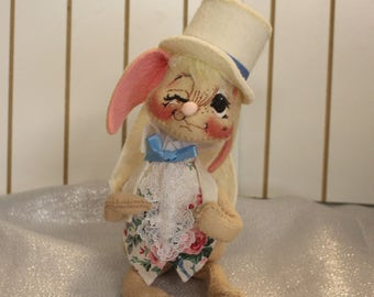 Vintage Annalee Easter Bunny in Top Hat and Tails Ready for Easter Annalee Dolls 1993