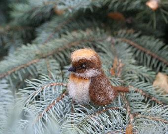 Needle felted bird. Little bird. Miniature.  Needle felted animal. Soft sculpture.  Made to order