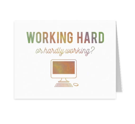 Congrats on your new job, Encouragement card, Funny snail mail, Friendship greeting card, Just because greeting card, foil stamped card