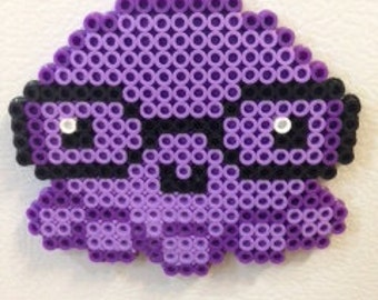 Purple Nerd Octopus with Glasses