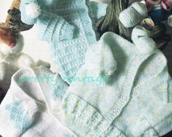 Baby Knitting Pattern  CARDIGANS & SHOES pdf