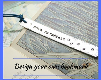 Design your own bookmark, customised bookmark, hand stamped bookmark, personalised bookmark, book lover gift, first communion