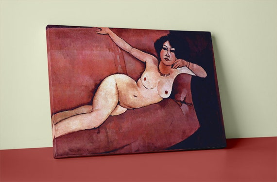 Act on a sofa (Almaiisa) Modigliani | Mirror Wrap Professional Canvas
