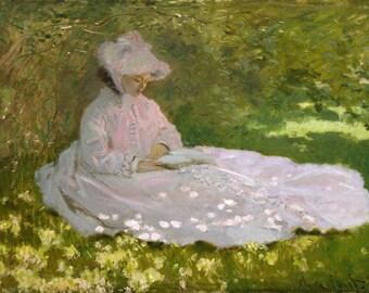 Claude Monet: Springtime. Fine Art Print/Poster. (004077)