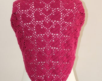 PDF, Heart Shawl / scarf, Crochet Pattern, Triangle Scarf