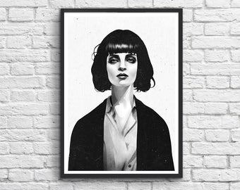Art-Poster 50 x 70 cm - Mrs Mia Wallace - Pulp Fiction