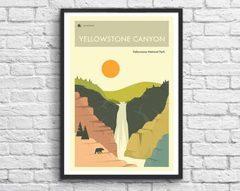 Art-Poster - 50 x 70 cm - Yellowstone National Park