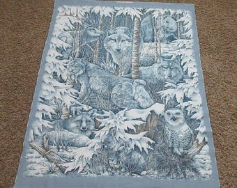 "Nature Wilderness Fabric Panel - Midwinter Dream 8655 Spring Industries - OOP- 100% Cotton - 42"" x 45"""