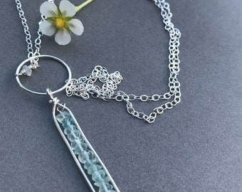 Sterling silver & Apatite Necklace