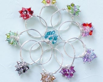 Sterling Cluster Rings - 149a