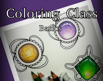 Gem Coloring Class (video and color along)