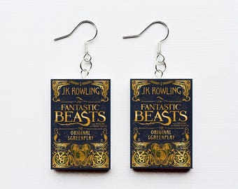Fantastic Beast and Where to Find Them mini book earrings