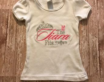 CLEARANCE*   If The Tiara Fits Top   Toddler Girl   Monogram   Tutu   Pink & Gray   Birthday Set