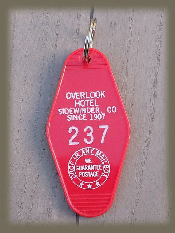 Overlook hotel shining vintage style hotel keychain room 237 for Overlook hotel decor