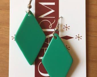 Vintage Inspired Emerald Diamond Earrings
