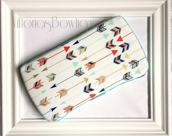 YOUR CHOICE trim color, light blue OR cream gold, Diaper bag, Baby wipe case, arrow wipe case, travel case, Wipe holder