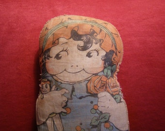 Antique Lithograph/Printed Cloth Stuffed Doll - Dolly Dingle/Grace Drayton
