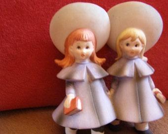 Vintage School Girl Best Friends Figurine - Adorable!
