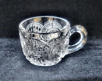 Imperial Pressed Glass Punch Cup in the Broken Arches pattern  circa 1914