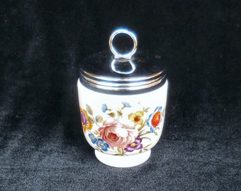 Royal Worchester Porcelain Egg Coddler in the Roanoke Pattern