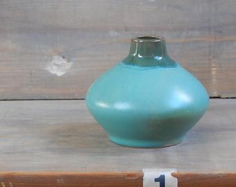 Soviet Vintage Ceramic Vase Green 1960-s Decorative Vase Made In USSR Soviet Design Vase Retro Vase