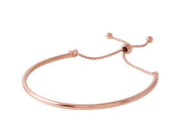 Gold bangle bracelet, adjustable bangle