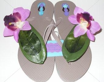 Beige Floral Sandals