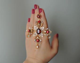 Ear-crosses Dolce Gabbana Ruby sunset