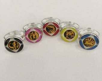 Power Ranger Rings: The First Five