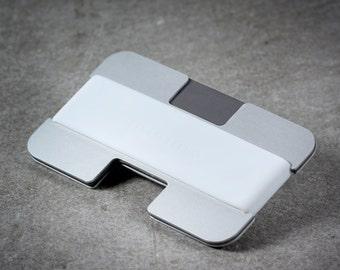 Minimo wallet | silver, grey + white | minimalist, slim wallet, card wallet, travel wallet