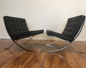 Knoll Barcelona Chairs 1960's - Pair
