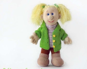 "Crocheted doll Lizaveta ""Apple blossom"", The crocheted soft toy"