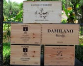 Italian Wine Crates, Wood Crates, Wedding Decor, Gift Card Box, Home Wine Bar Decor,  Wood Storage Container, Flower Box, Crate UpCycle.