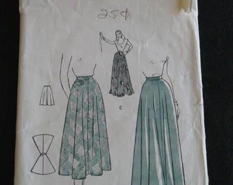 Vintage Butterick Woman's Skirt pattern #4432