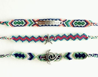 Friendship Bracelet (your pick) - Beach, Starfish or Turtle