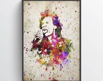 Mick Jagger Print, Mick Jagger Poster, Mick Jagger Art, Home Decor, Gift Idea