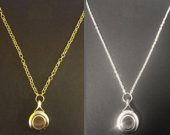Gold or Silver Flute Key Necklace