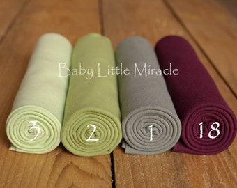 Green Newborn Photo Prop Wrap - Newborn stretch wrap – cotton, baby wrap, stretch baby wrap,swaddling blanket,photography prop,newborn