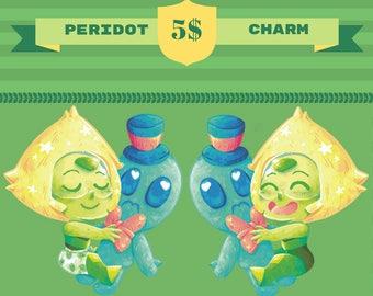 Custom Peridot charm