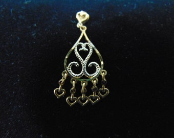 Womens Single Vintage Estate 14K Yellow Gold Dangle Earring .6g E2550