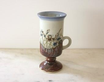 Ceramic Bud Vase/Mug with Floral Glaze